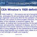 public health definition by winslow