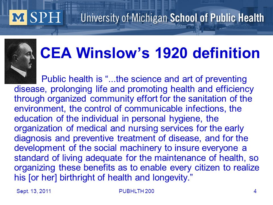 public health definition by winslow