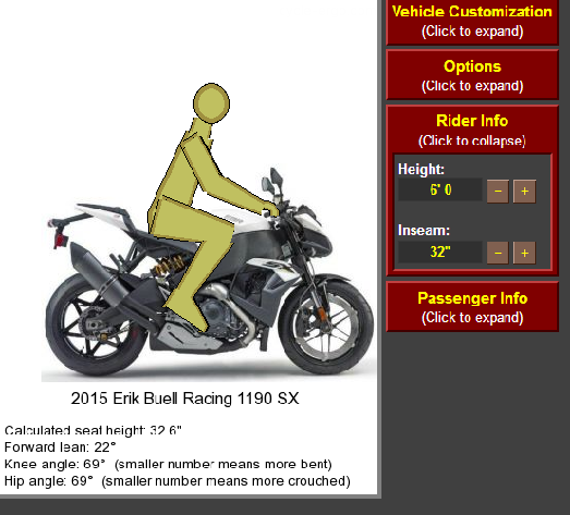 Motorcycle ergonomics