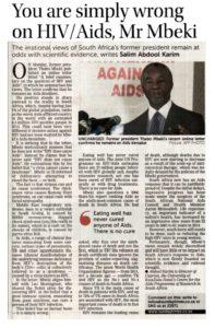 Thabo Mbeki AIDS denialist