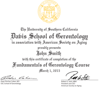 Online Gerontology Certificate Courses and Programs