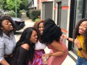 happy african women