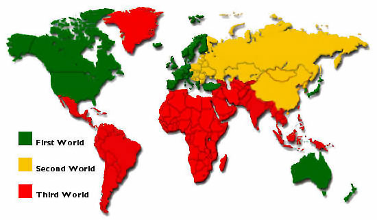 List Of Third World Countries map
