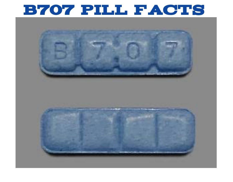 B707 Blue Xanax Bars