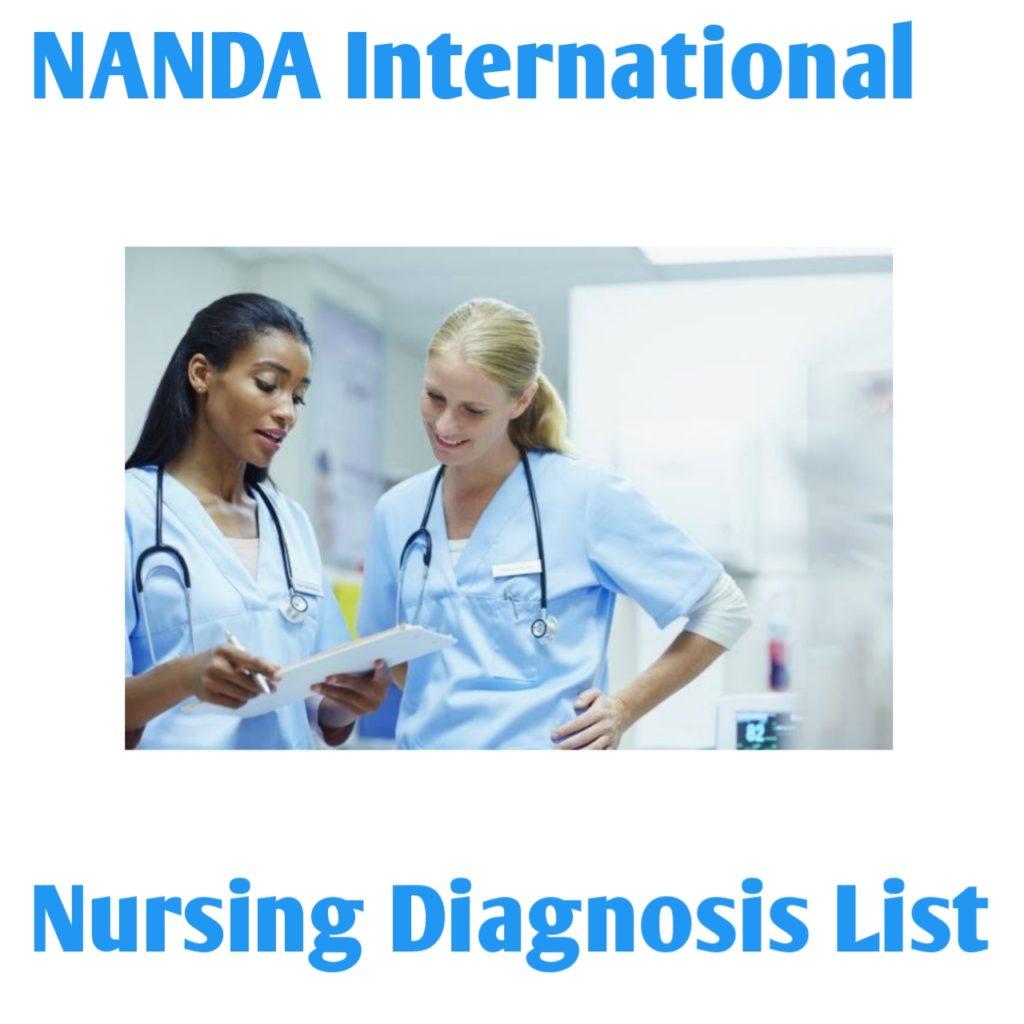NANDA International Nursing Diagnosis List 2020 - 2021 ...