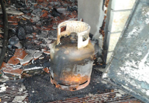 cooking gas explosion