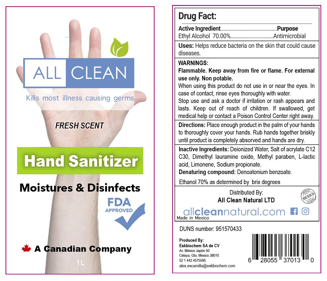 All-Clean Hand Sanitizer