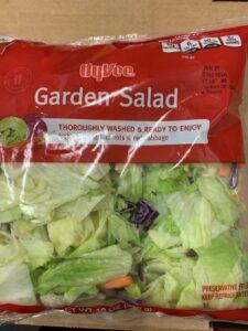 Hy-Vee Recalls Bagged Garden Salad