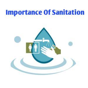 Importance of sanitation