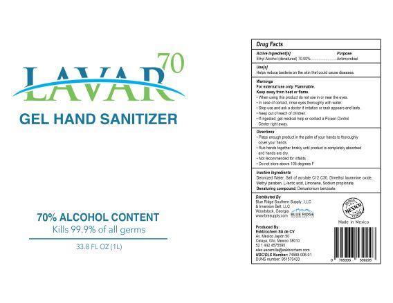 Lavar 70 Gel Hand Sanitizer