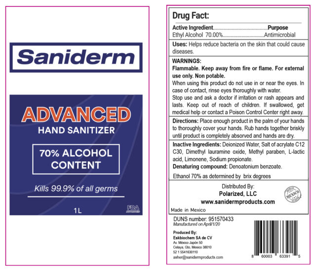 Saniderm Advanced Hand Sanitizer