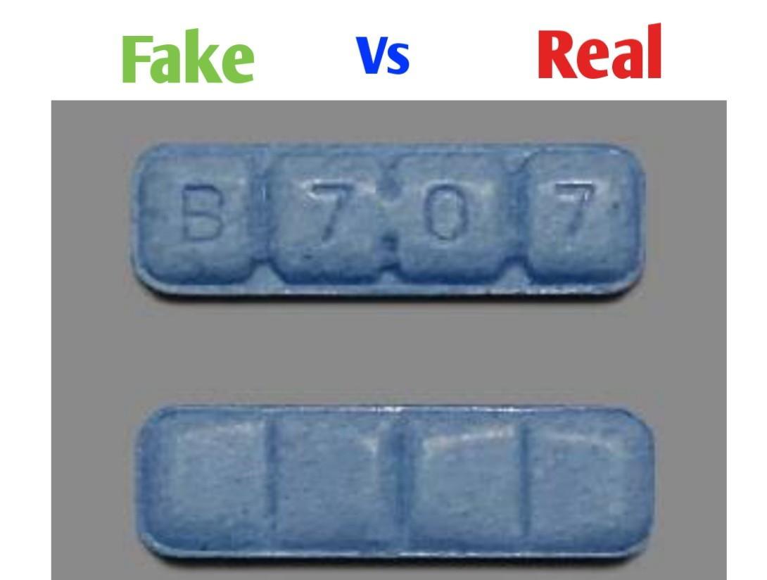 b707 xanax fake