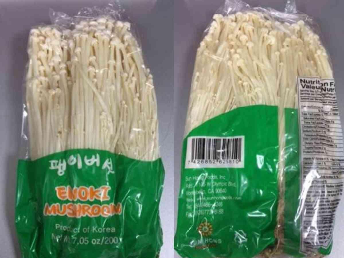 Enoki Mushrooms Listeria