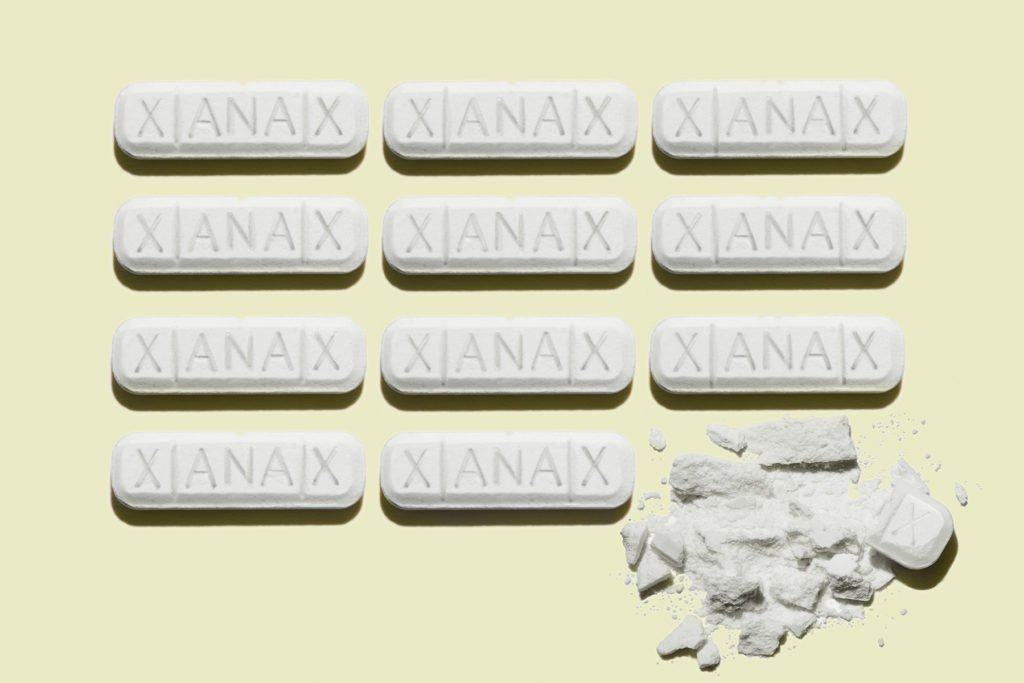 Snorting Xanax