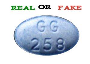 GG258 blue pill fake