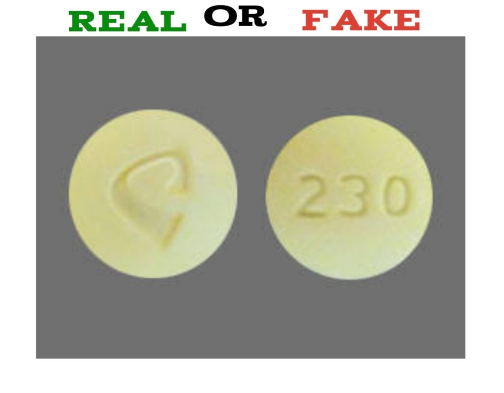 Yellow 230 Pill fake
