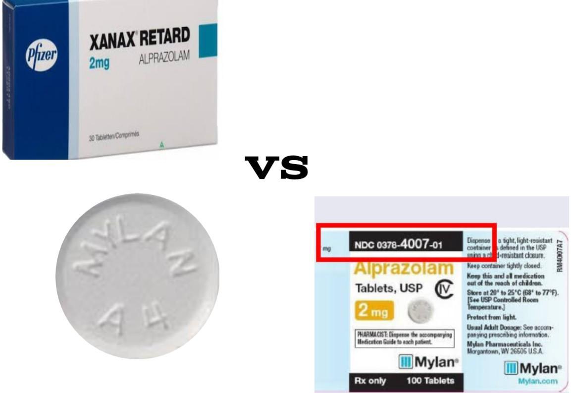 Mylan A4 VS Xanax 2mg