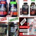 Fake Whey Protein powder