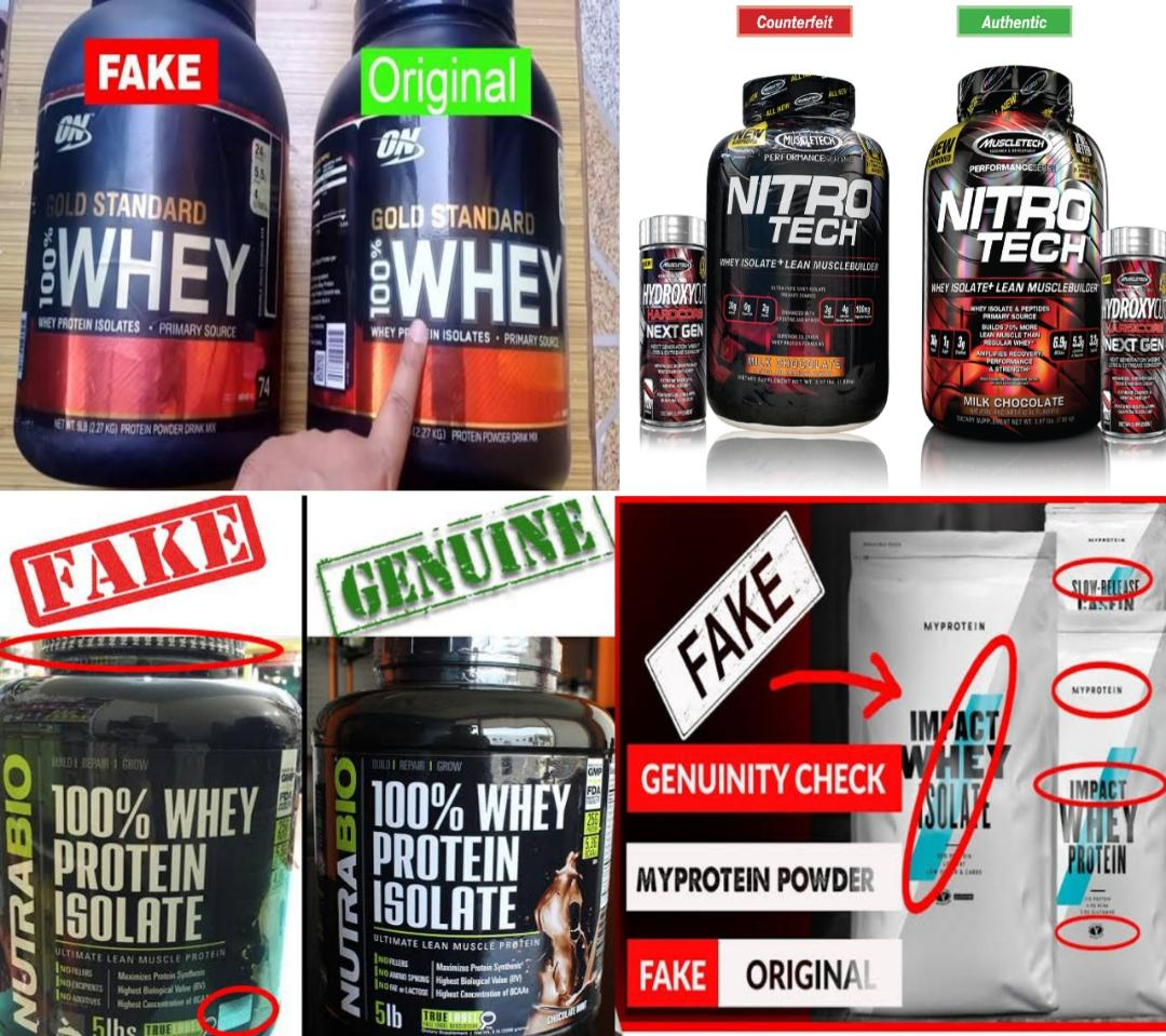 Fake Whey Protein powder