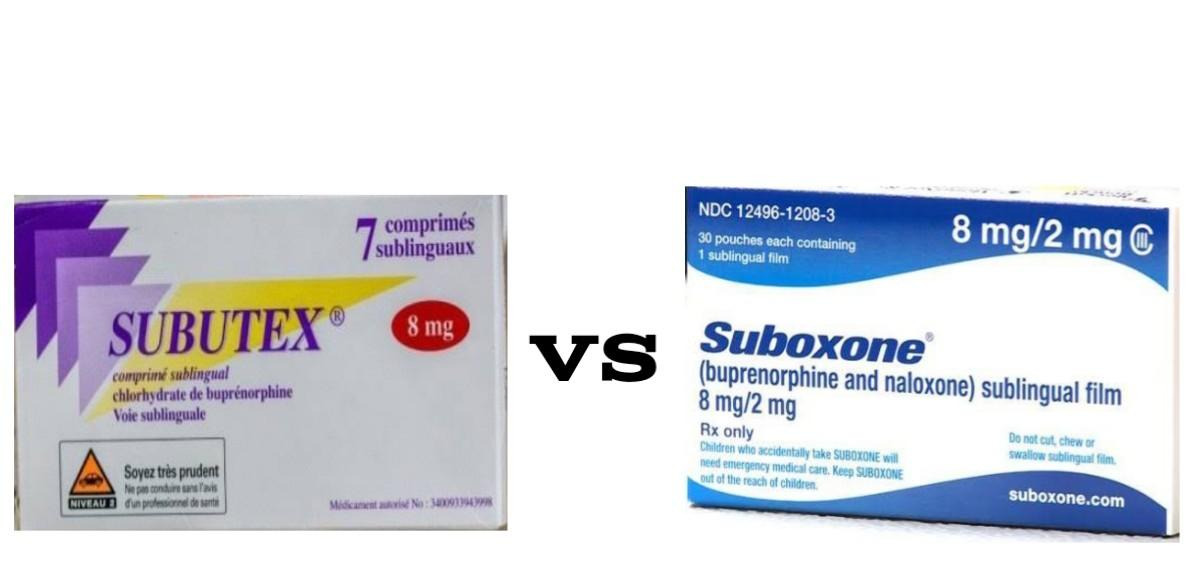 Subutex vs Suboxone