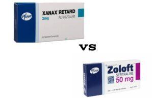 Zoloft vs Xanax