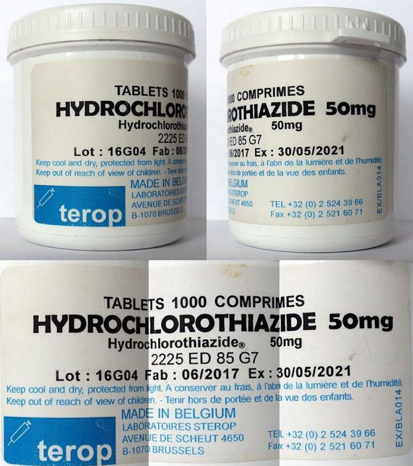Fake Hydrochlorothiazide Tablets