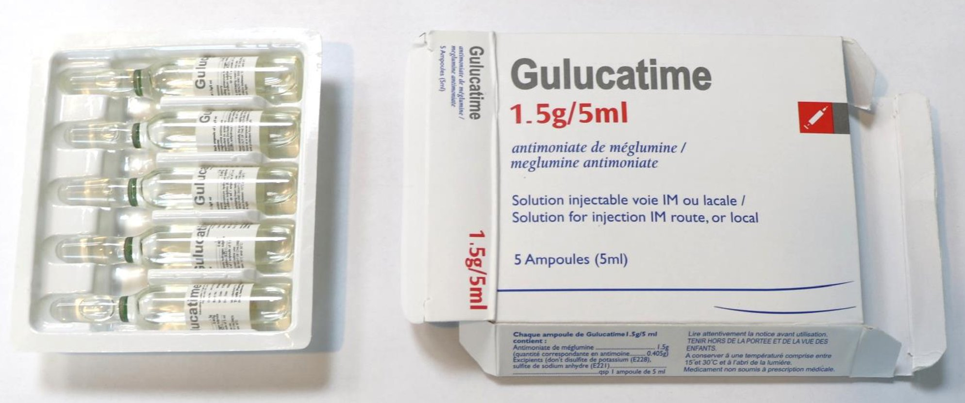Fake Meglumine antimoniate In Circulation