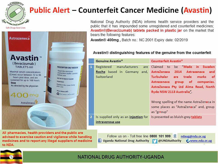 Fake Sutent (Sunitinib) Cancer medicine