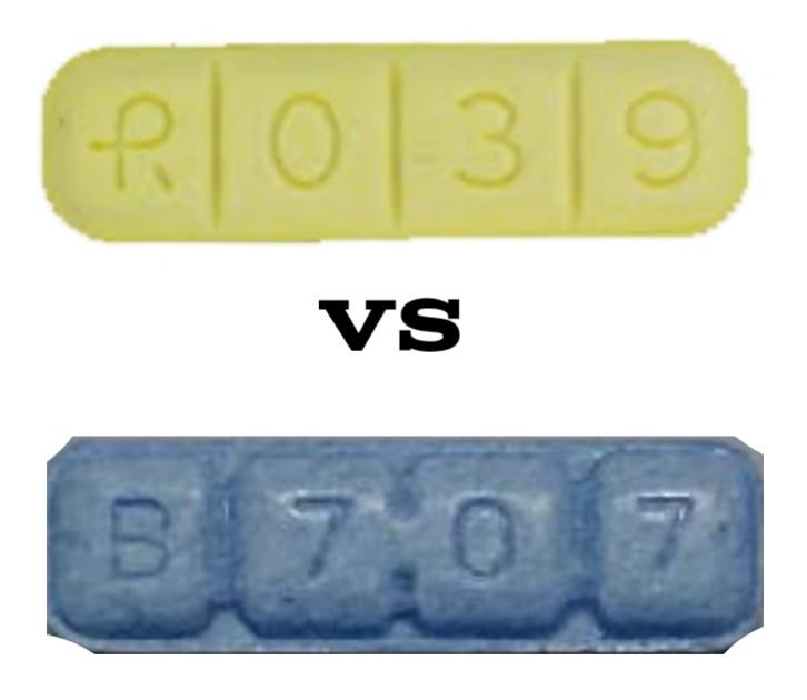 R039 Pill Vs B707 Pill