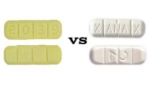 R039 Yellow Bars VS White Xanax Bars