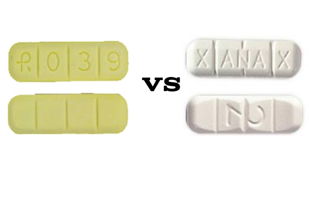 R039 Yellow Bars VS White Xanax Bars