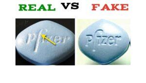 What do fake Viagra pills look like