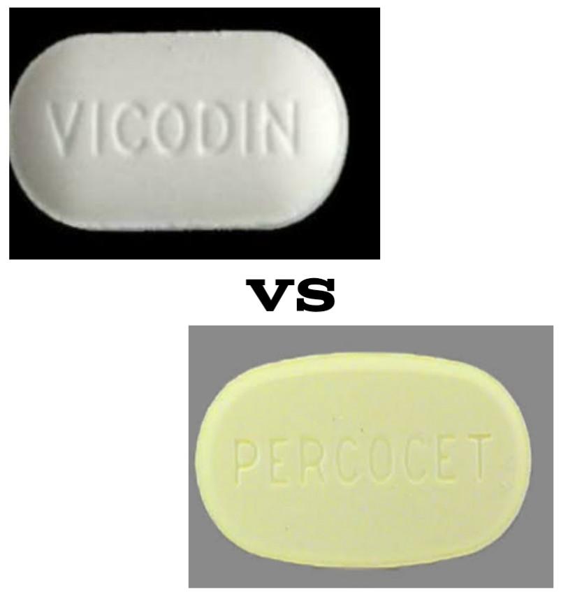vicodin vs percocet