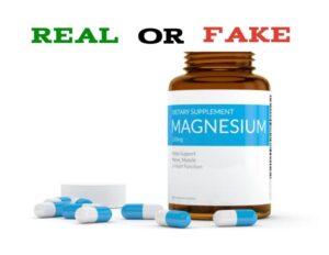 Fake Magnesium Supplements