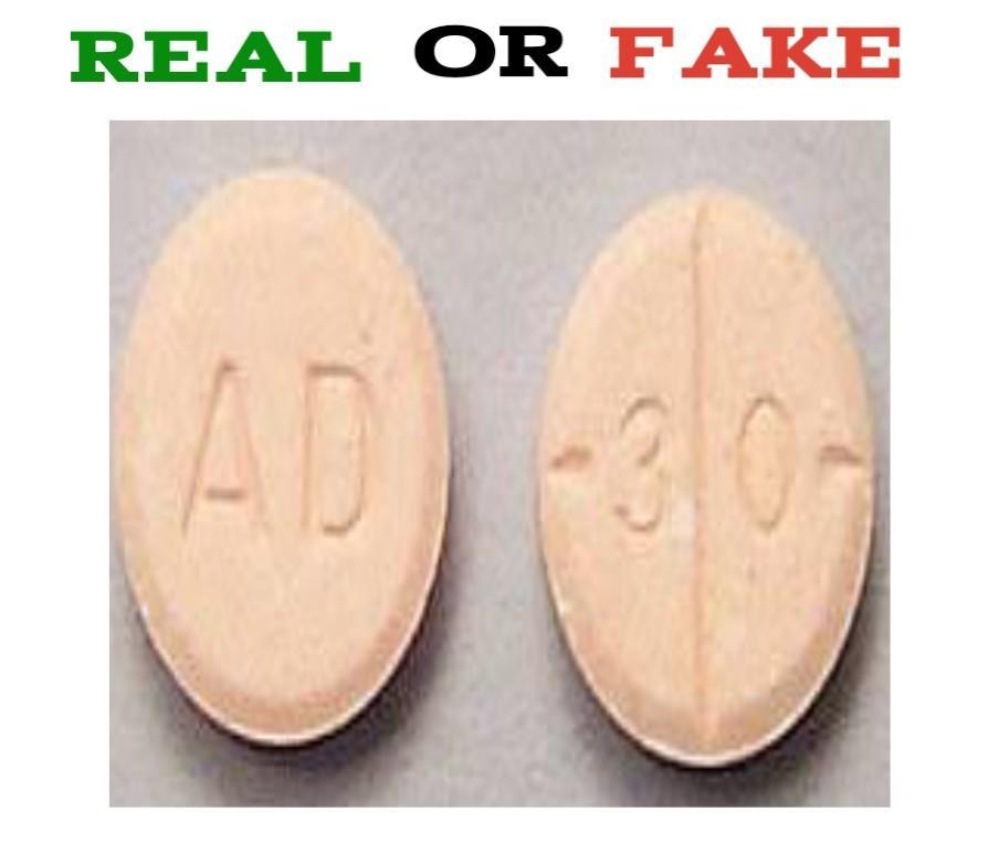 ad 30 pill fake