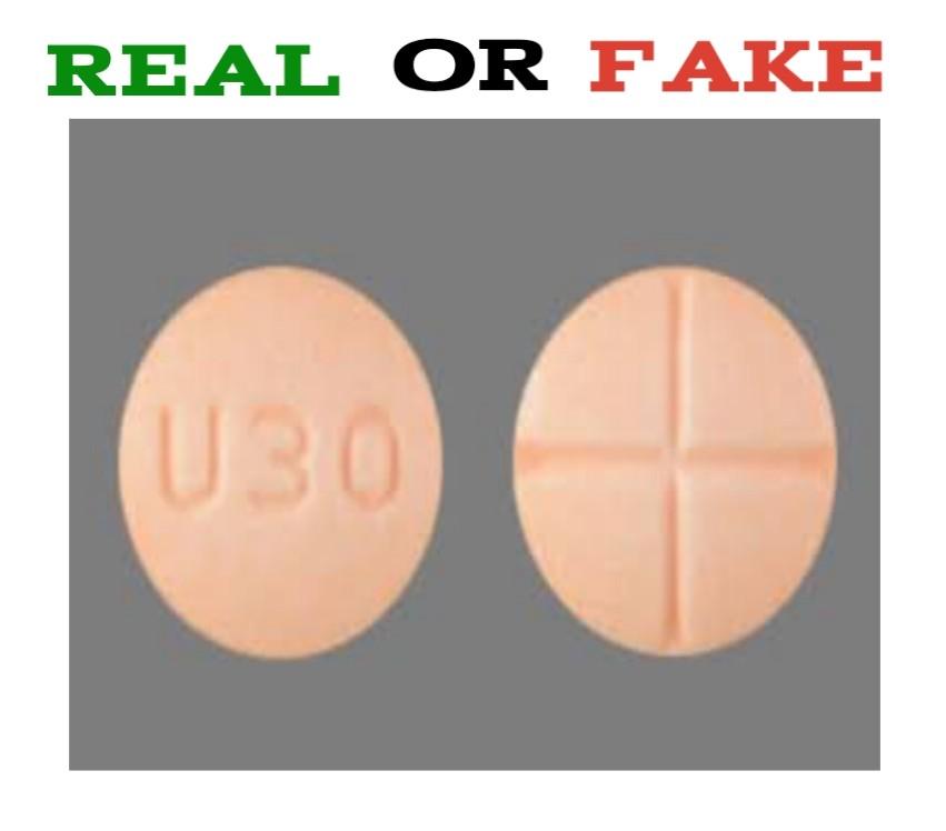 fake u30 pill