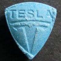 Blue Tesla pill