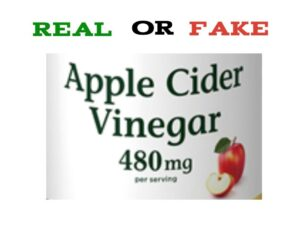Fake Apple Cider Vinegar Pills