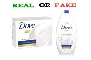 fake vs real dove soap