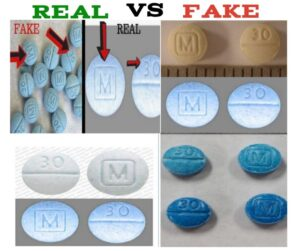 m 30 pill fake vs real