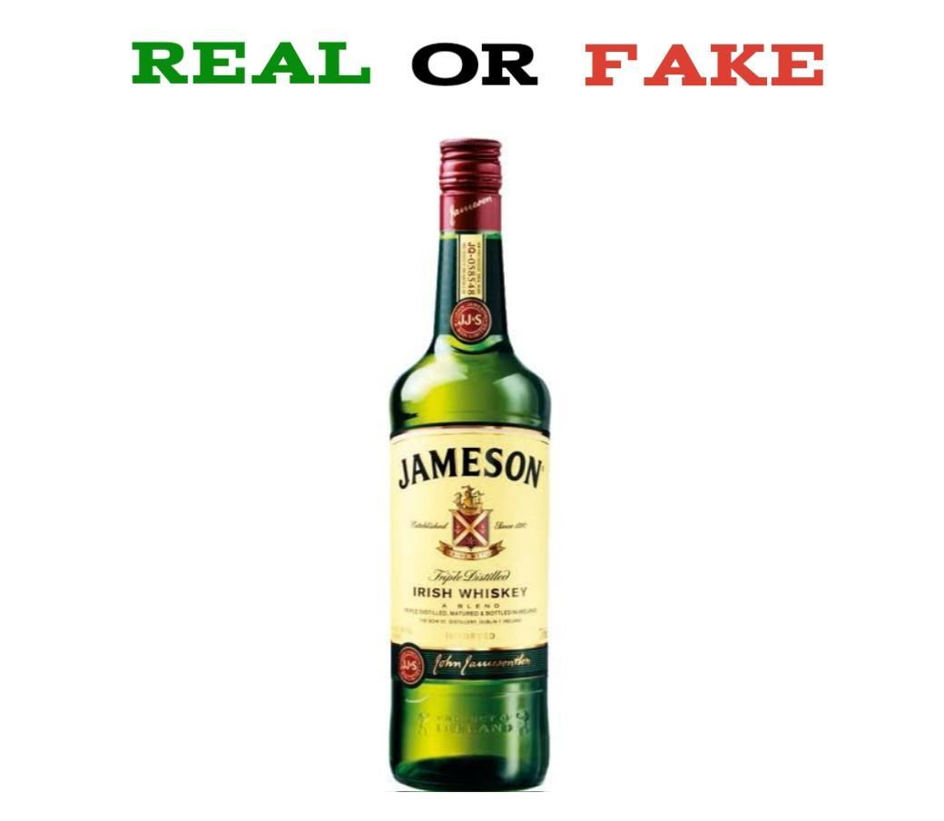 Fake Jameson whiskey