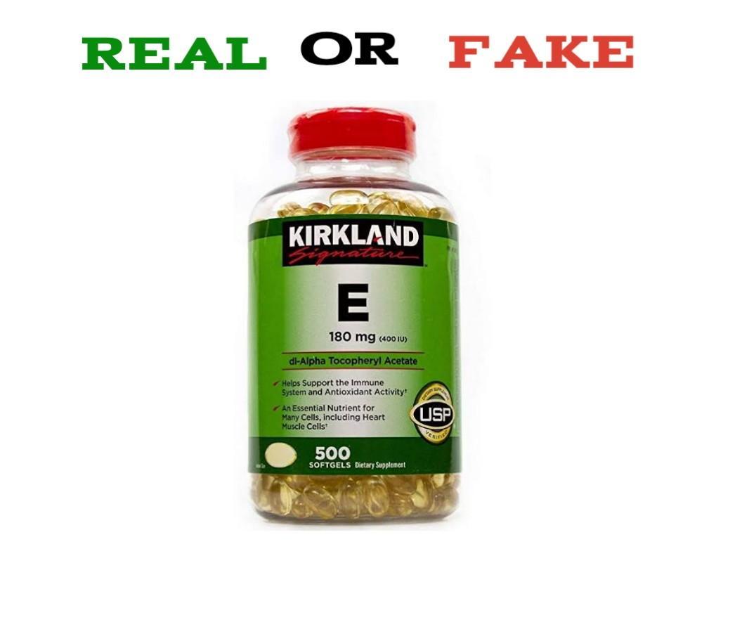 Fake Kirkland Vitamin E
