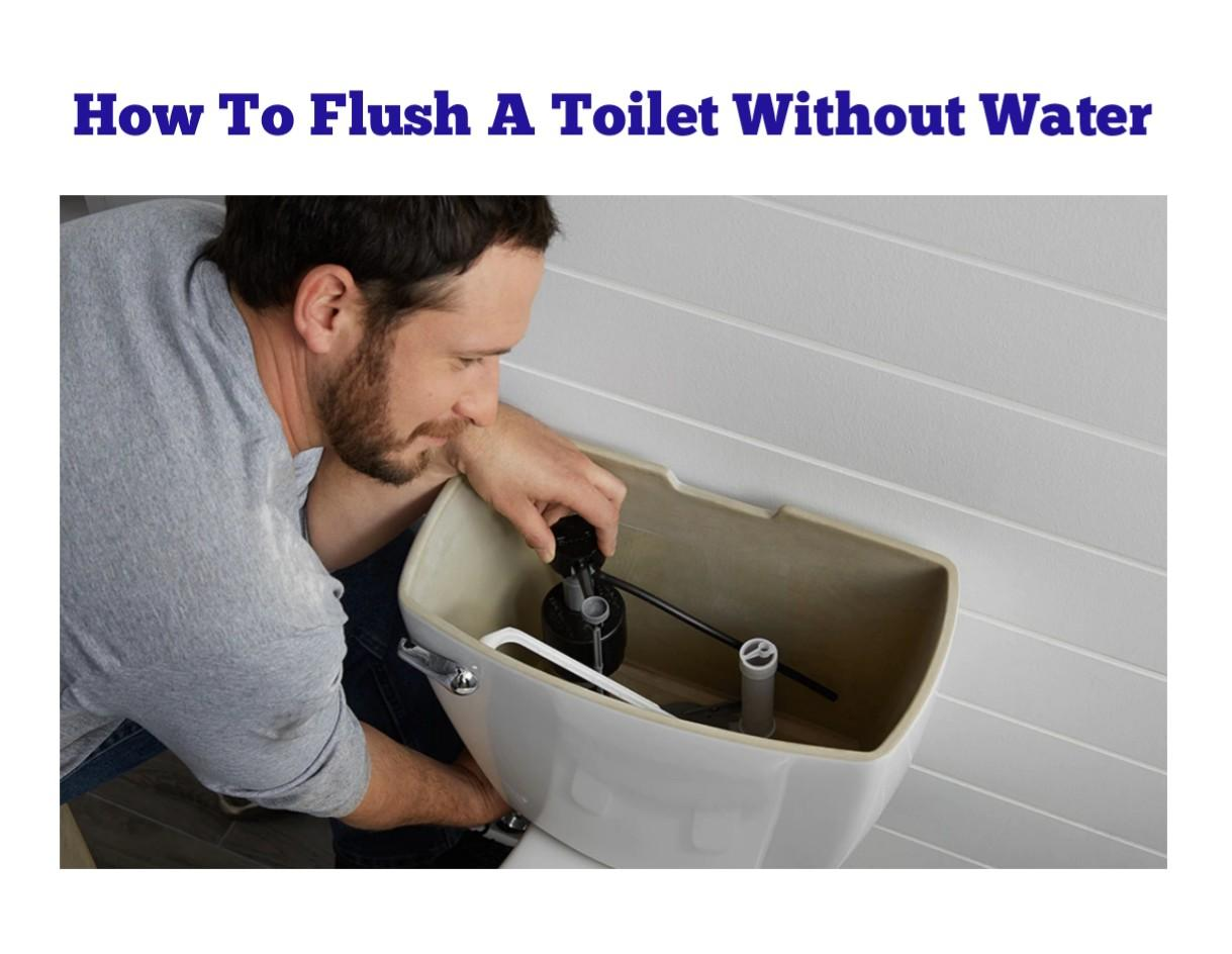 How To Flush a Toilet Without Water