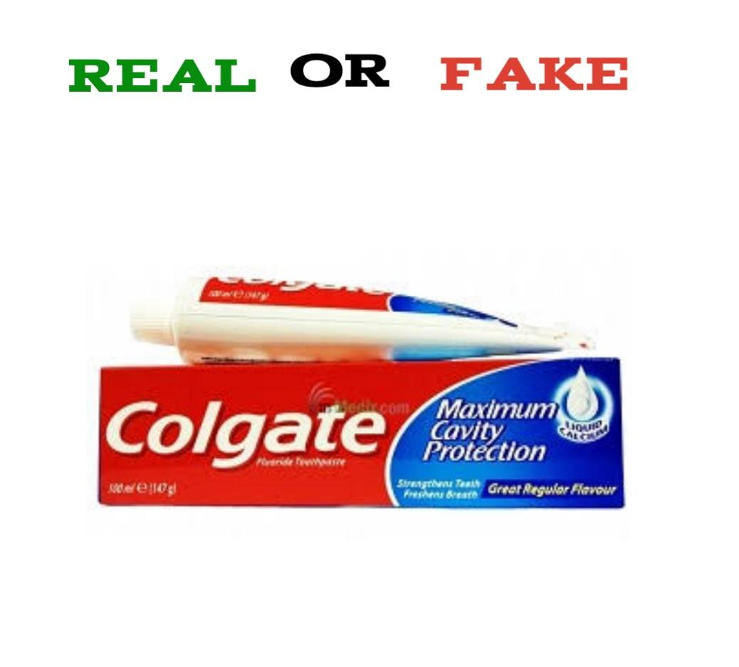 How To Spot Fake Colgate Toothpaste