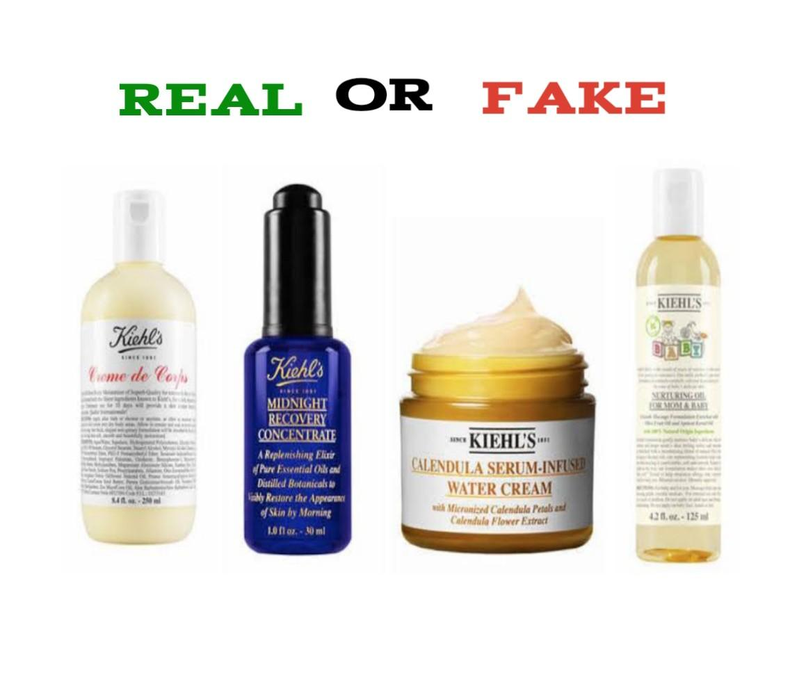 how to spot fake kiehl's products