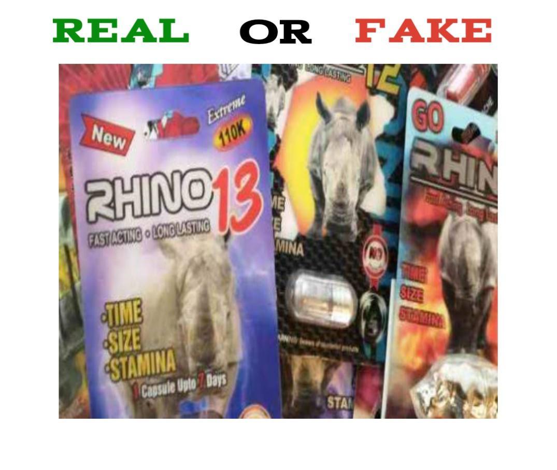 how to spot fake rhino pills