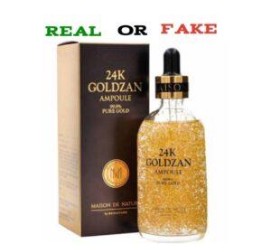 24k Goldzan Original Vs Fake