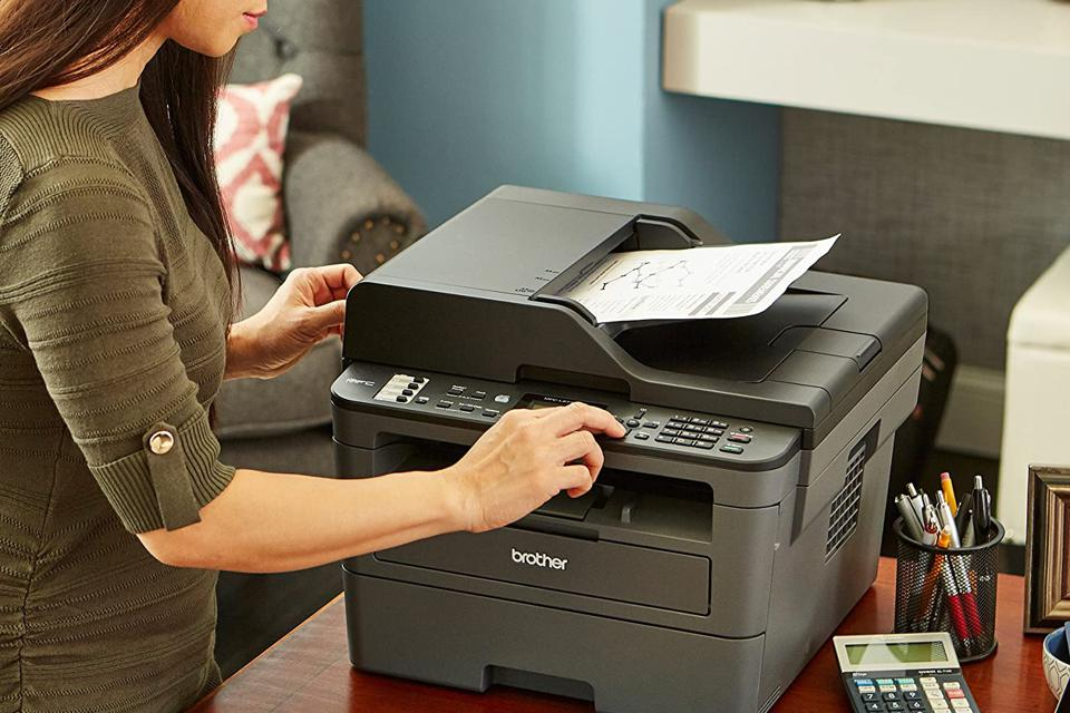 What is the hazard of laser printer toner