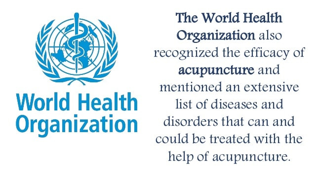 World Health Organization Acupuncture List Of Conditions