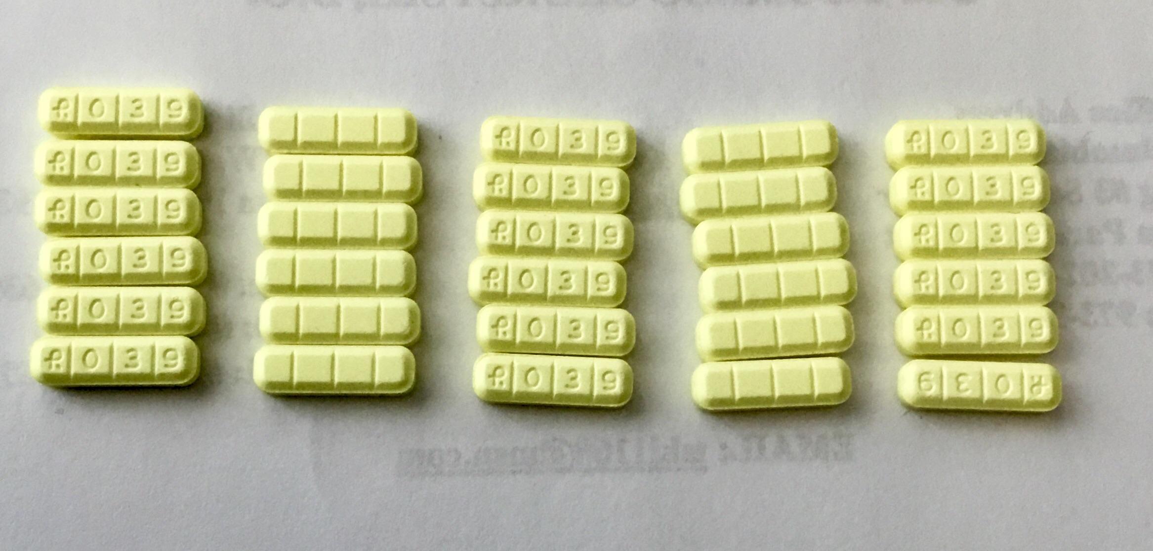 R039 Yellow Pill